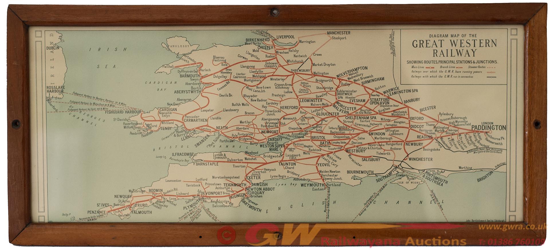 Carriage Print Great Western Railway Diagram Map