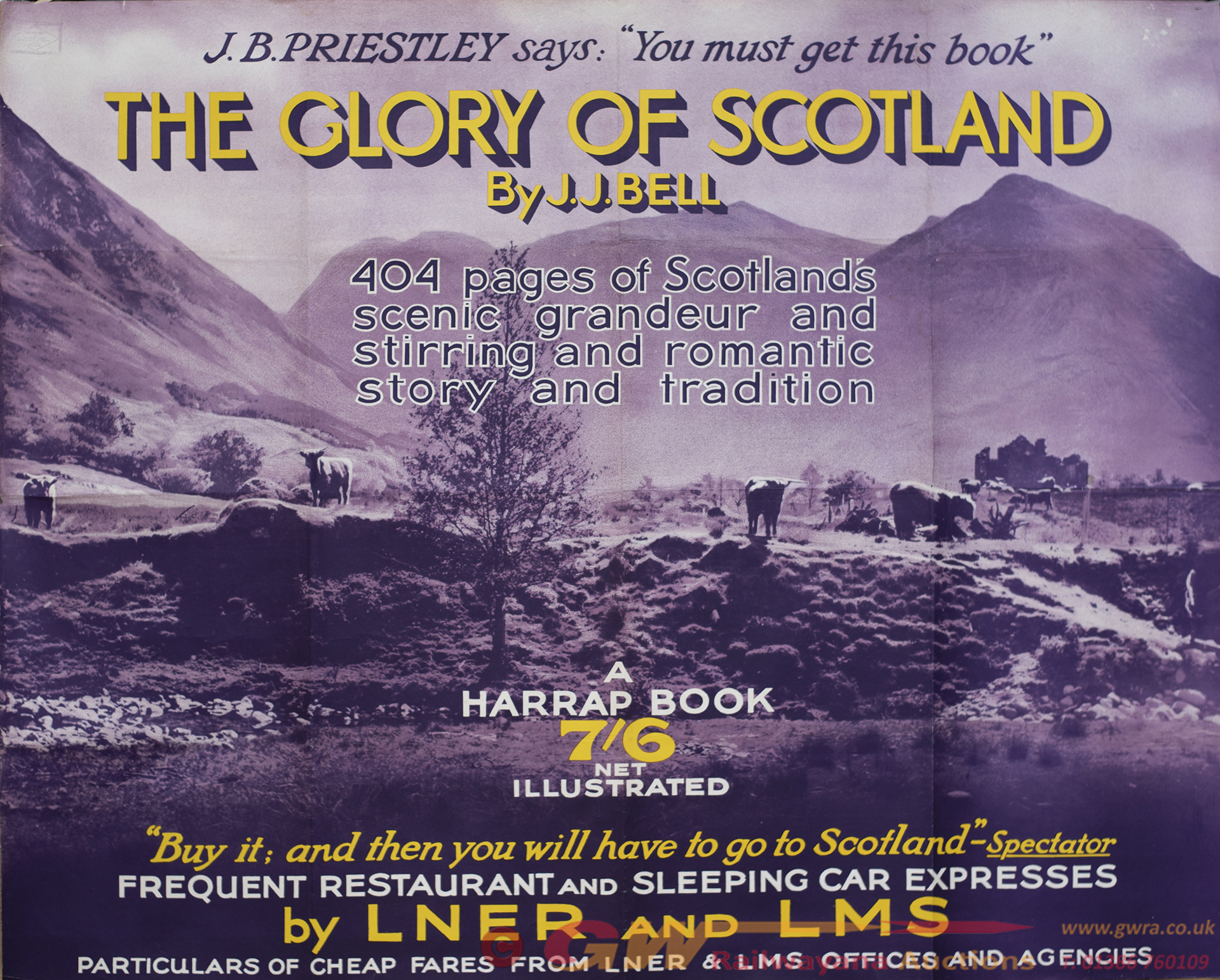 Poster LNER/LMS THE GLORY OF SCOTLAND ADVERTISING