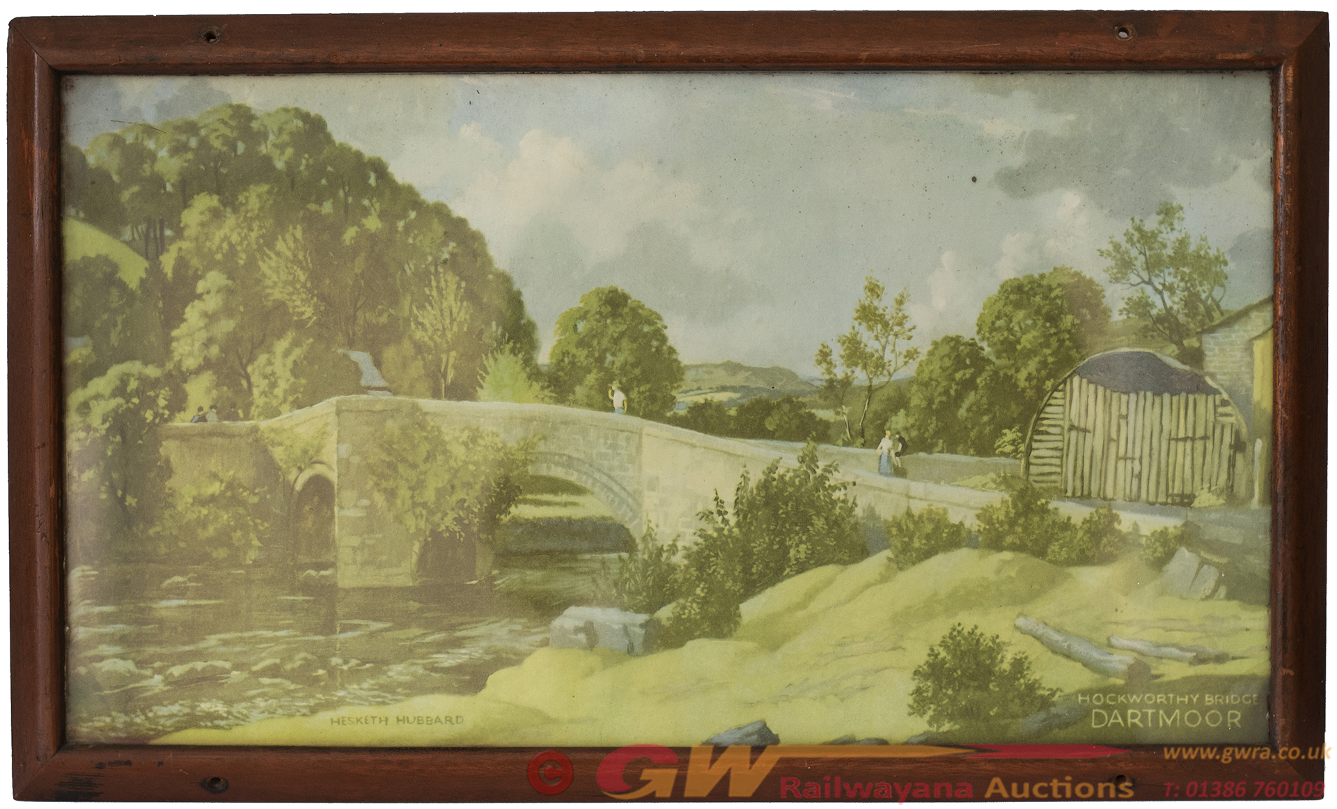 Carriage Print HOCKWORTHY BRIDGE DARTMOOR By