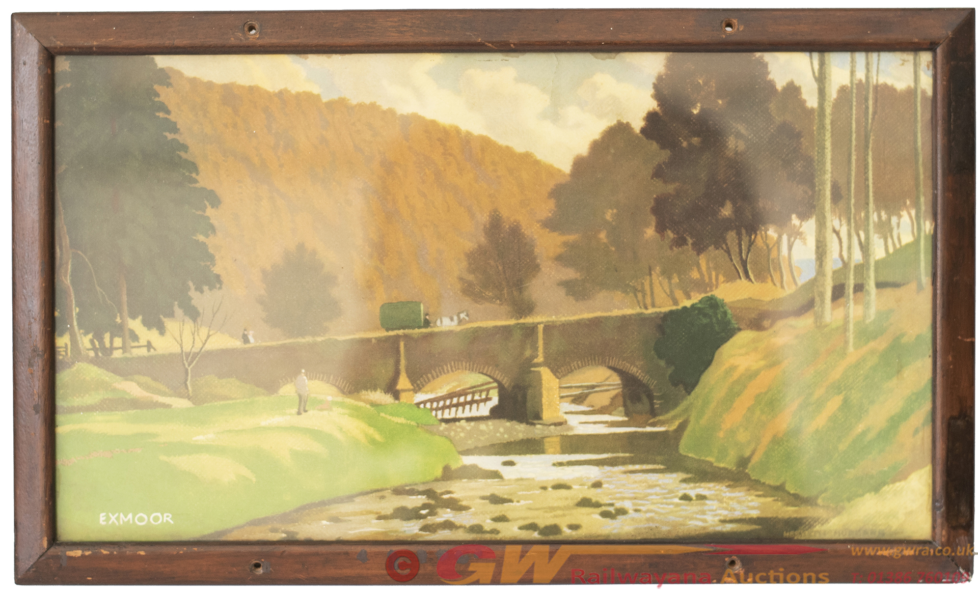 Carriage Print EXMOOR By Hesketh Hubbard From The