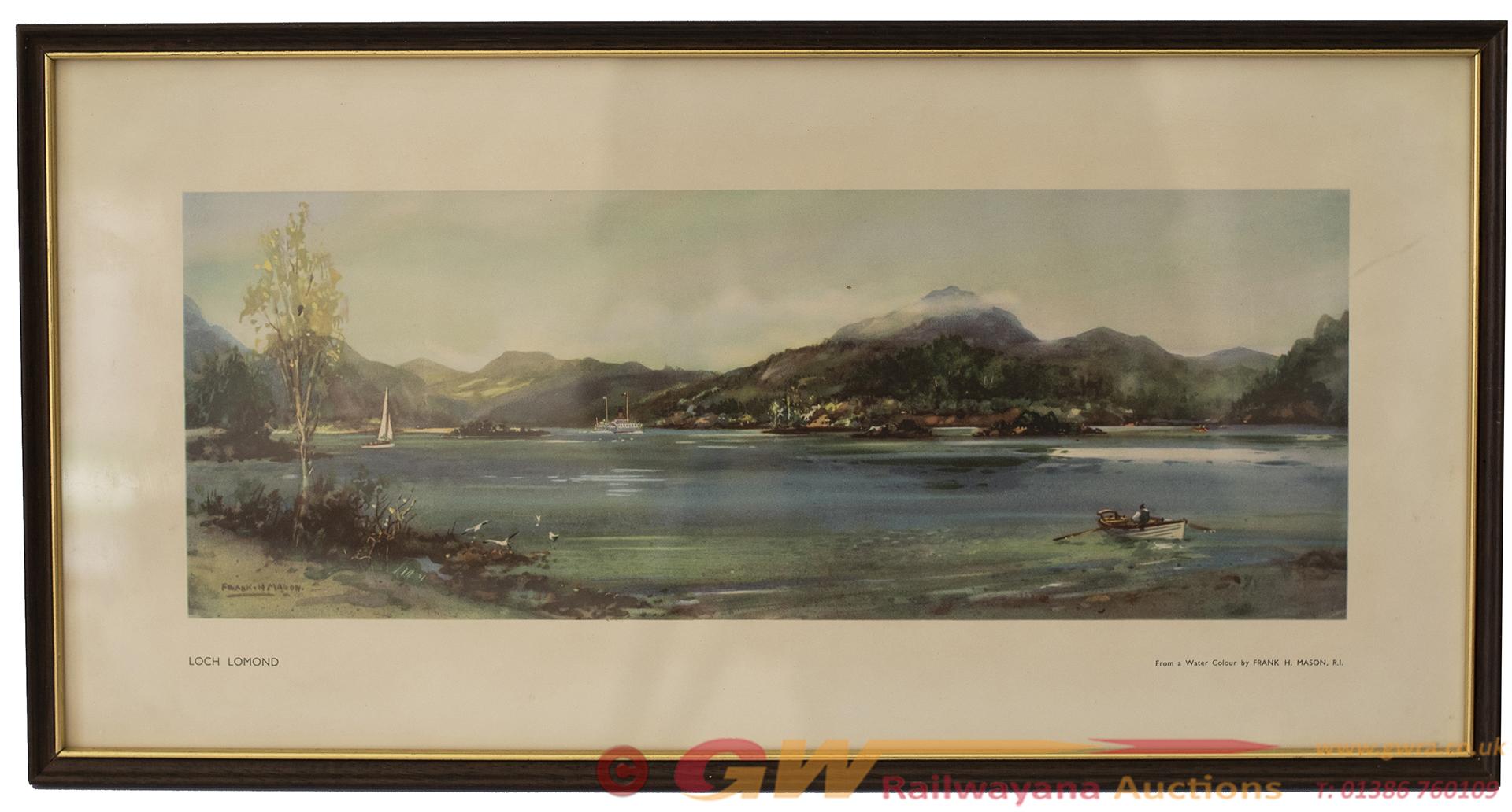 Carriage Print LOCH LOMOND By Frank H Mason R.I.