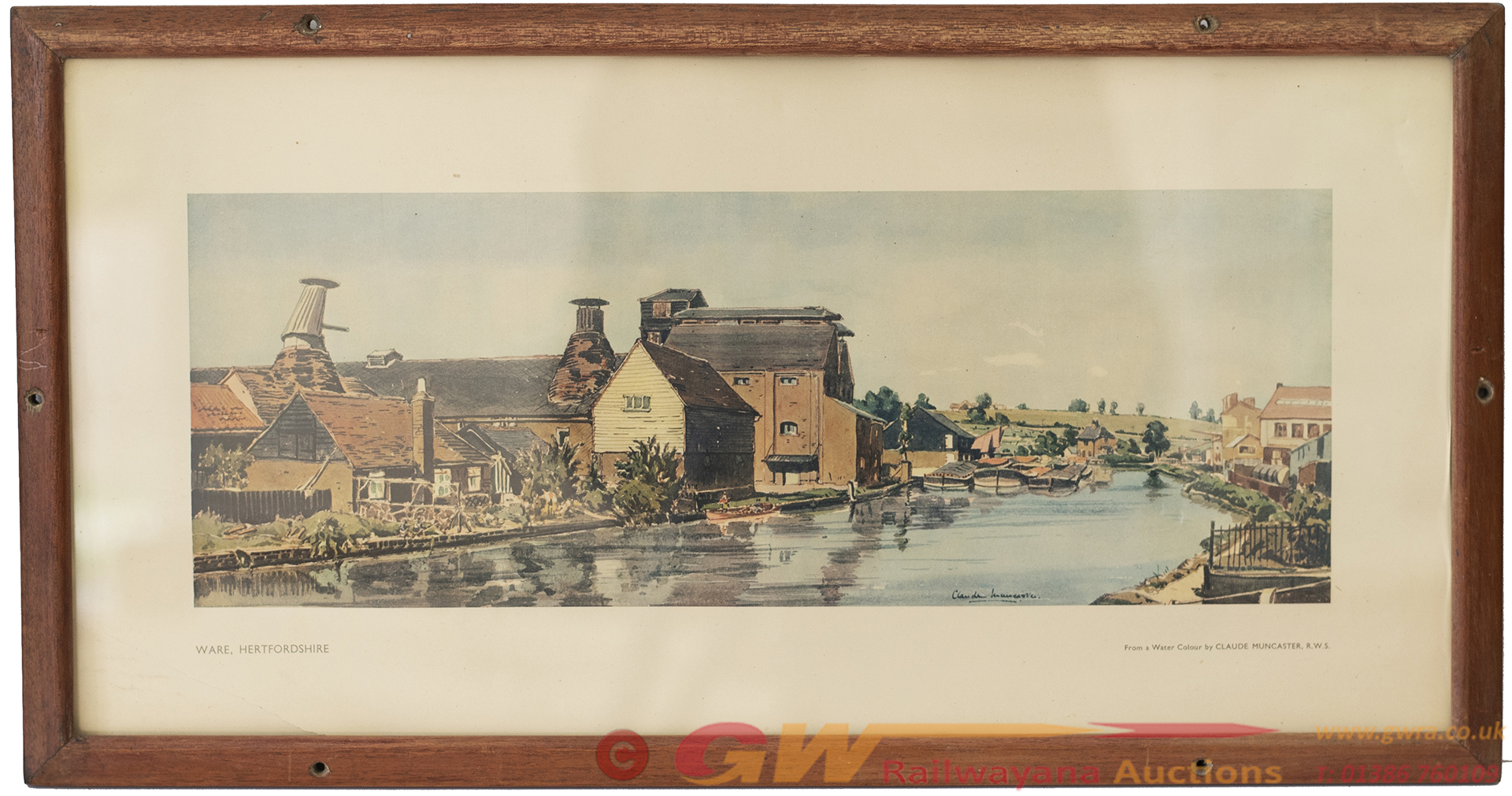 Carriage Print WARE, HERTFORDSHIRE By Claude
