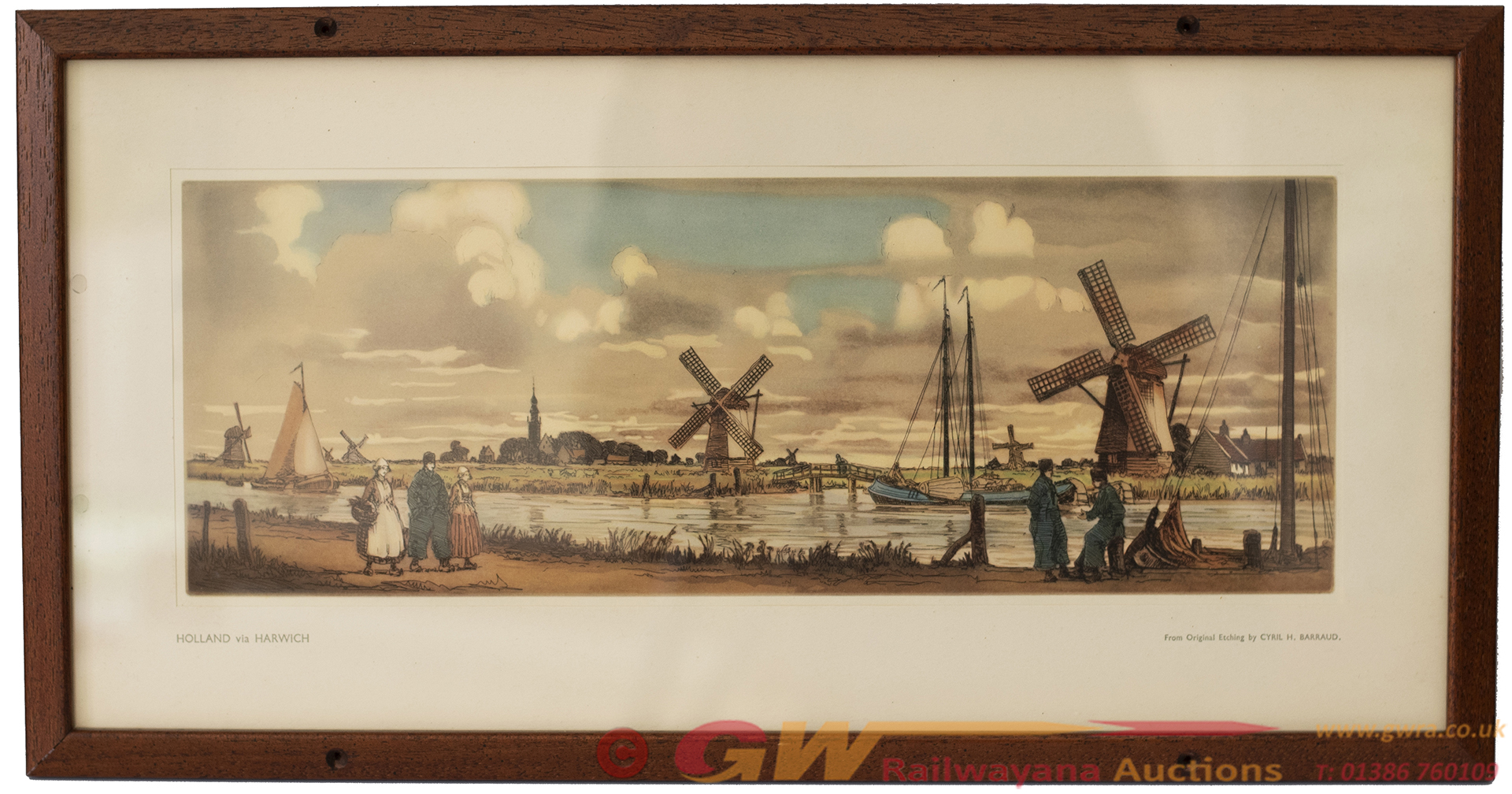 Carriage Print HOLLAND Via HARWICH From An