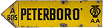 Motoring Enamel Sign AA PETERBORO a605. Double - select image 1