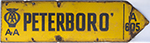 Motoring Enamel Sign AA PETERBORO a605. Double - select image 2