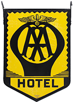 Motoring Enamel Sign AA HOTEL. Double Sided - select image 1