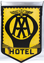 Motoring Enamel Sign AA HOTEL. Double Sided - select image 2