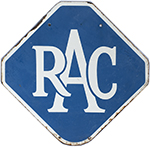 Motoring Enamel Sign RAC. Double Sided, Both Sides - select image 2