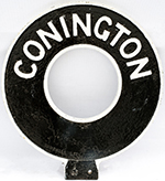 Motoring Road Sign CONNINGTON. Double Sided Cast - select image 1