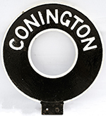 Motoring Road Sign CONNINGTON. Double Sided Cast - select image 2