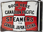 <P>Advertising Enamel Sign BOOK HERE FOR CANADIAN - select image 2
