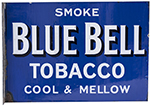 Advertising Enamel Sign SMOKE BLUE BELL TOBACCO - select image 1