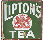 Advertising Enamel Sign LIPTON'S TEA. Double Sided - select image 1