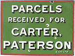Advertising Enamel Sign PARCELS RECEIVED FOR - select image 2