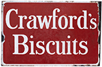 Advertising Enamel Sign CRAWFORD'S BISCUITS, - select image 1