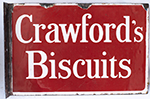 Advertising Enamel Sign CRAWFORD'S BISCUITS, - select image 2