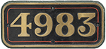 Great Western Railway Brass Cabside Numberplate - select image 1