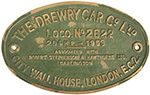 Worksplate THE DREWRY CAR CO LTD CITY WALL HOUSE - select image 1