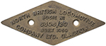 Diesel Bogie Plate NORTH BRITISH LOCOMOTIVE - select image 1