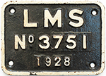 Tenderplate LMS No 3751 1928 Ex Fowler 4f 0-6-0 - select image 1