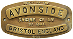 Worksplate AVONSIDE BRISTOL ENGLAND ENGINE Co LTD - select image 1