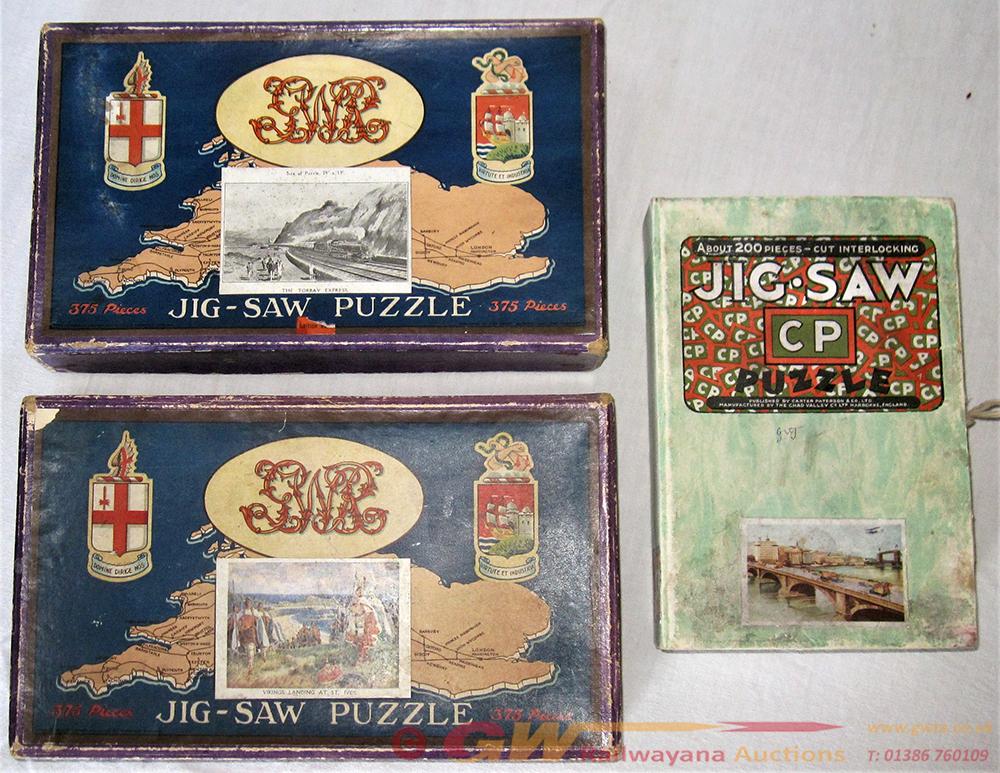 3 X GWR Jigsaw Puzzles. 2 X  375 Piece Puzzles.