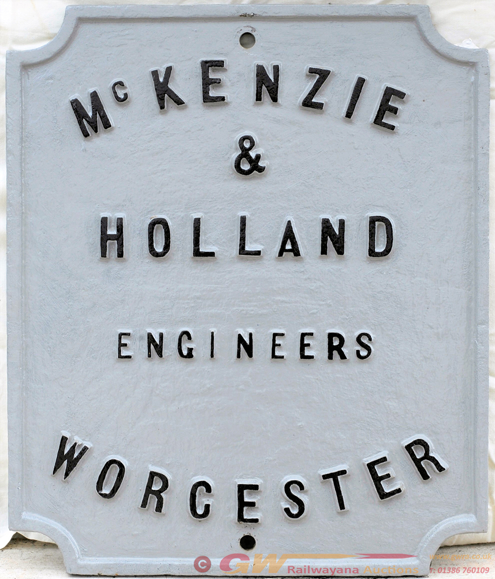 McKenzie & HOLLAND Makers Signal Post Plate.