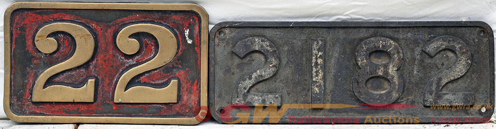 Brass Number Plate 22 Together With Cast Iron