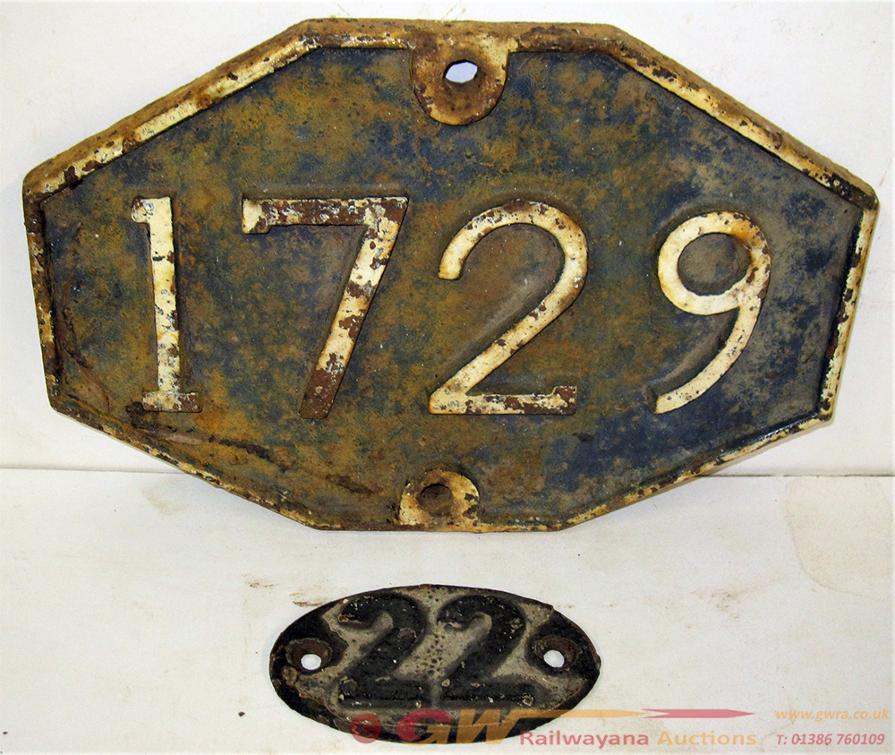 GER Cast Iron Bridge Plate 1729 Recovered From An