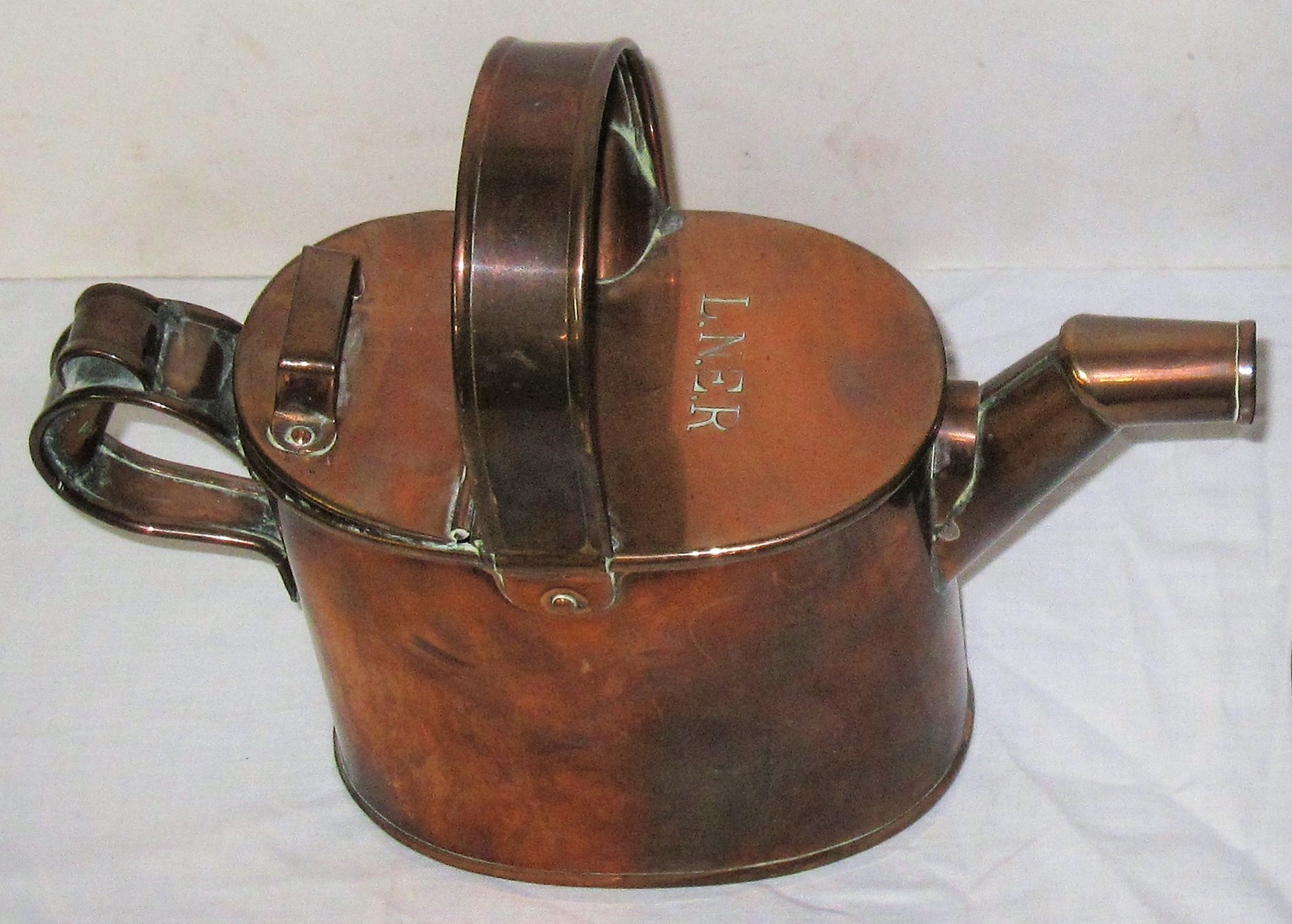 LNER Apprentice Piece Copper Watering Can Stamped