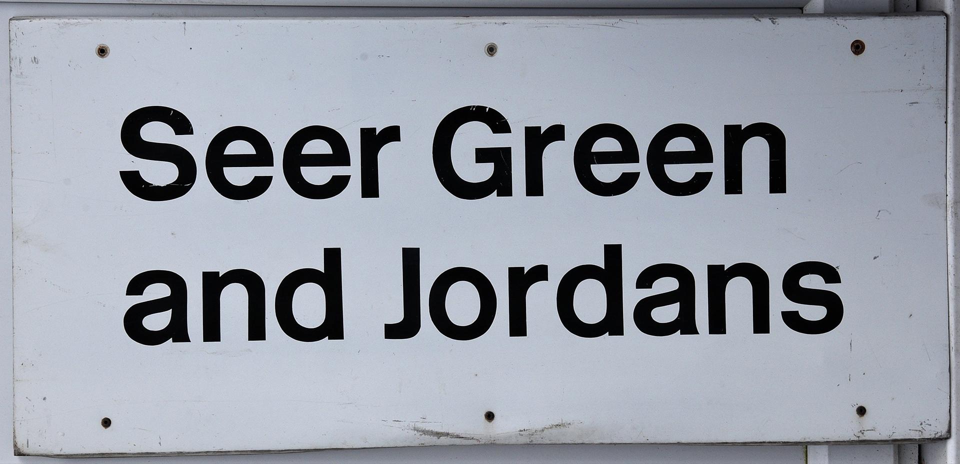 Modern Station Sign. SEER GREEN And JORDANS.