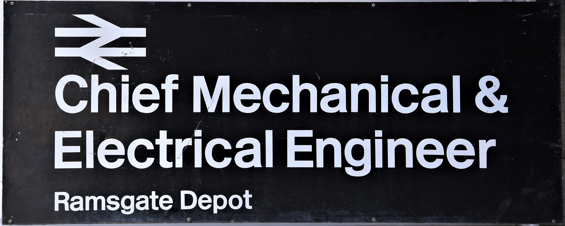 Modern Image Railway Sign. CHIEF MECHANICAL And
