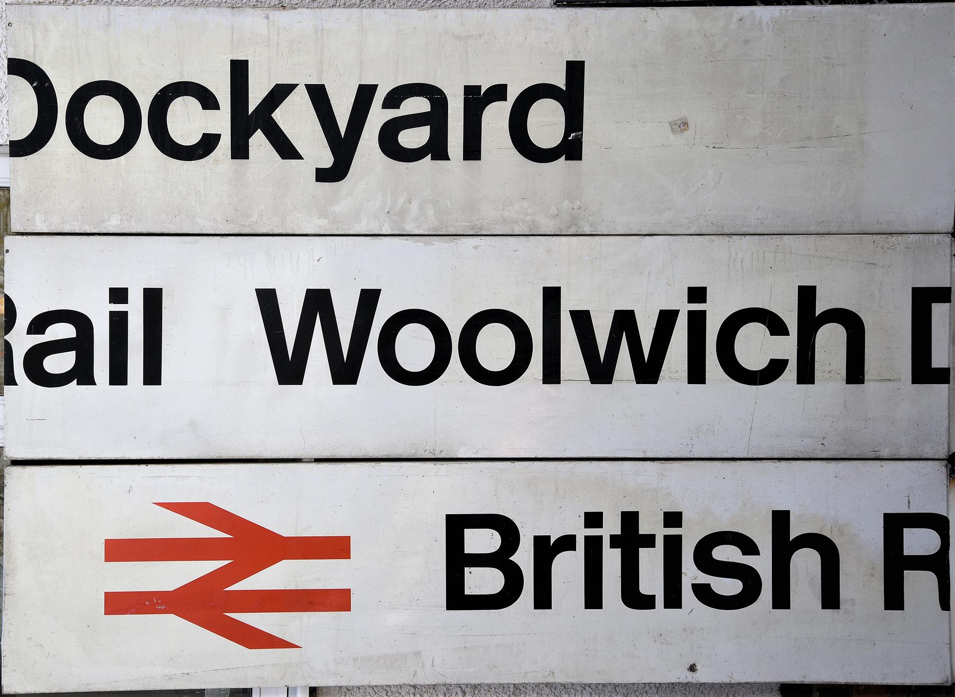 British Rail Station Sign. BRITISH RAIL WOLWICH