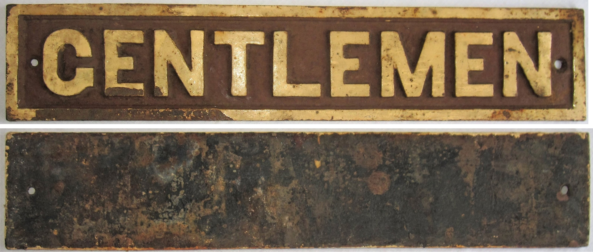 GWR Post Grouping Cast Iron Door Plate GENTLEMEN