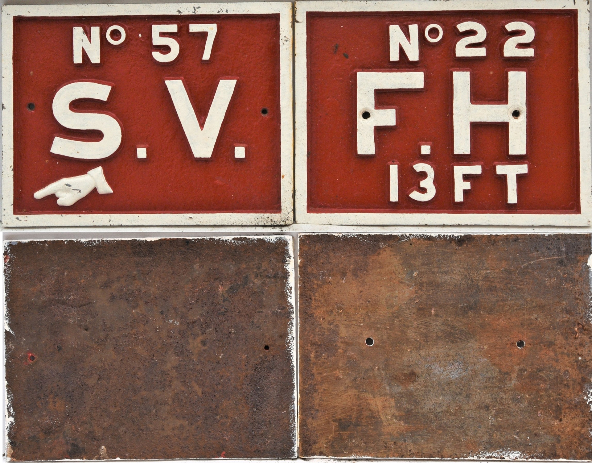 2 X Southern Railway Fire Hydrant And Stop Valve