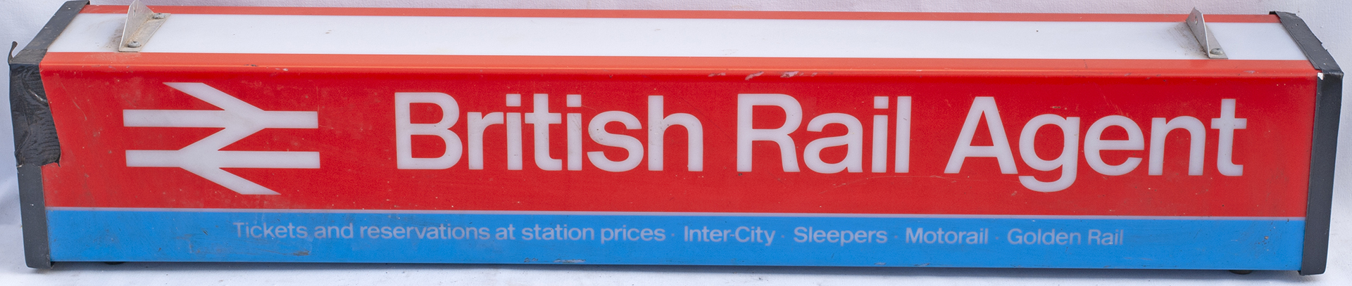 British Rail Agent Illuminated Perspex Light Box