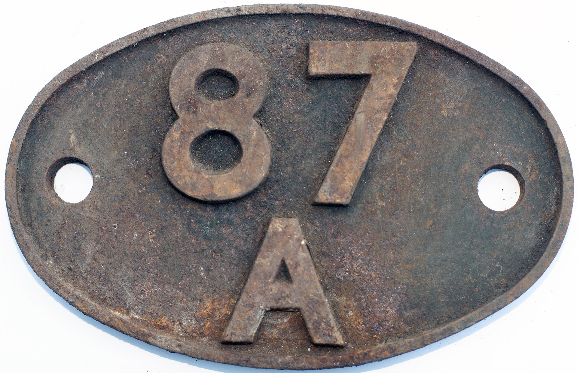 Shedplate 87a Neath 1950-1965 With Sub Sheds Glyn