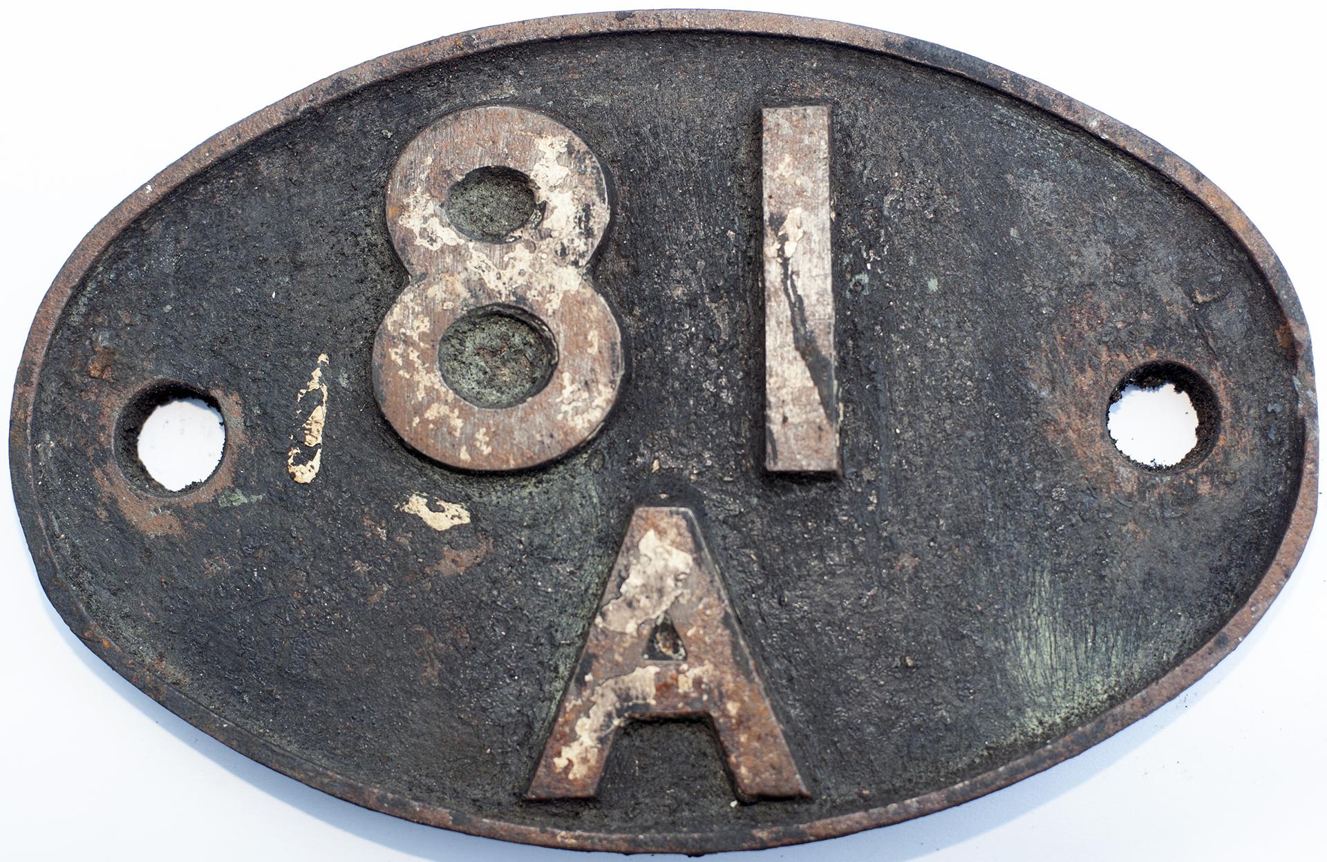 Shedplate 81a Old Oak Common 1950-1973. In Lightly