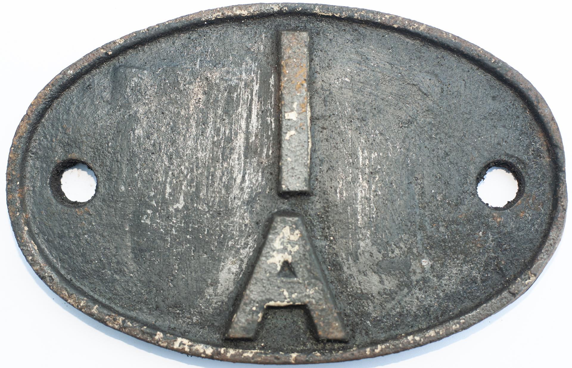 Shedplate 1a Willesden 1950-1973. In Lightly