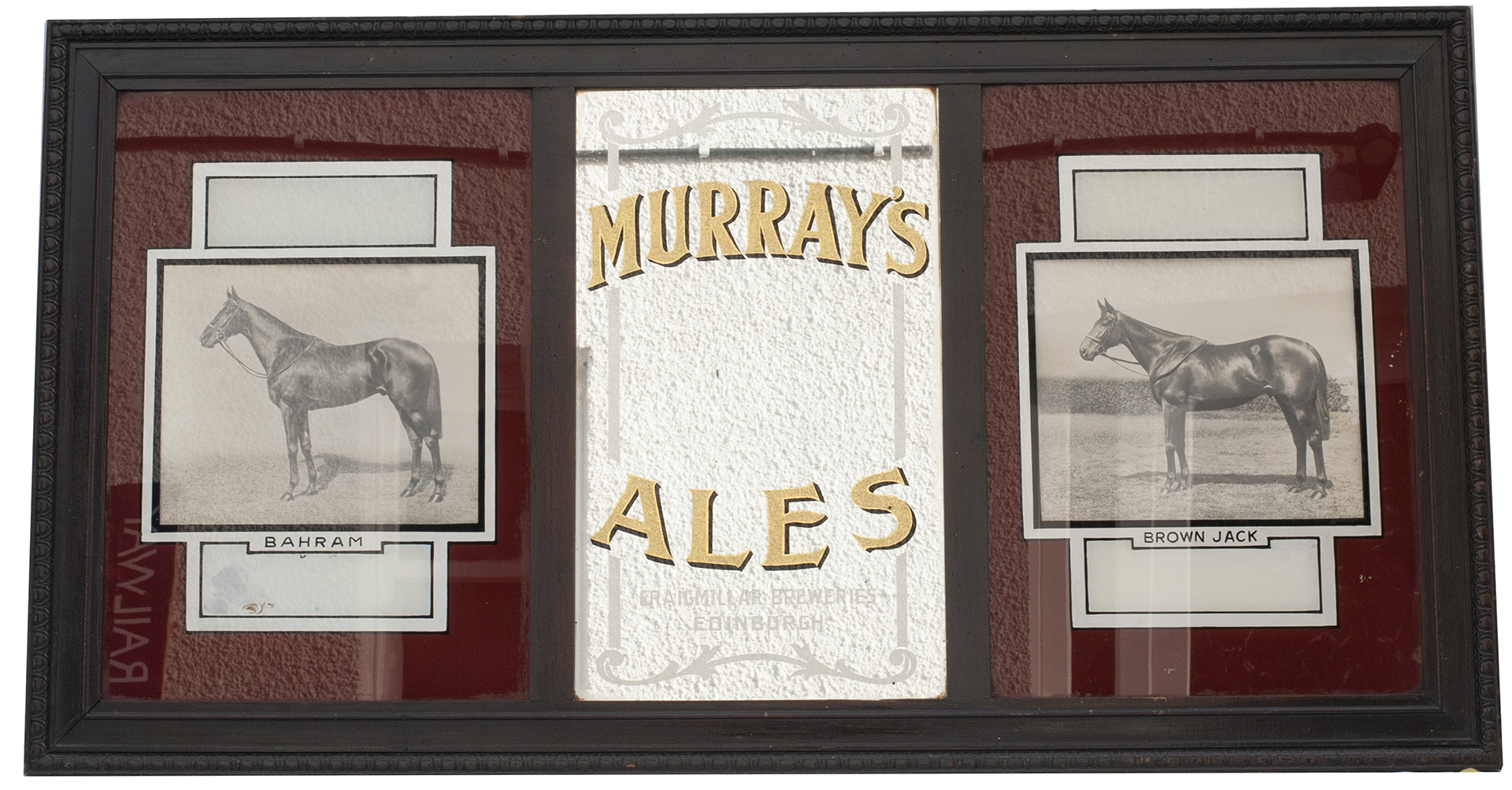 Advertising Glass Sign And Mirror MURRAY'S ALES