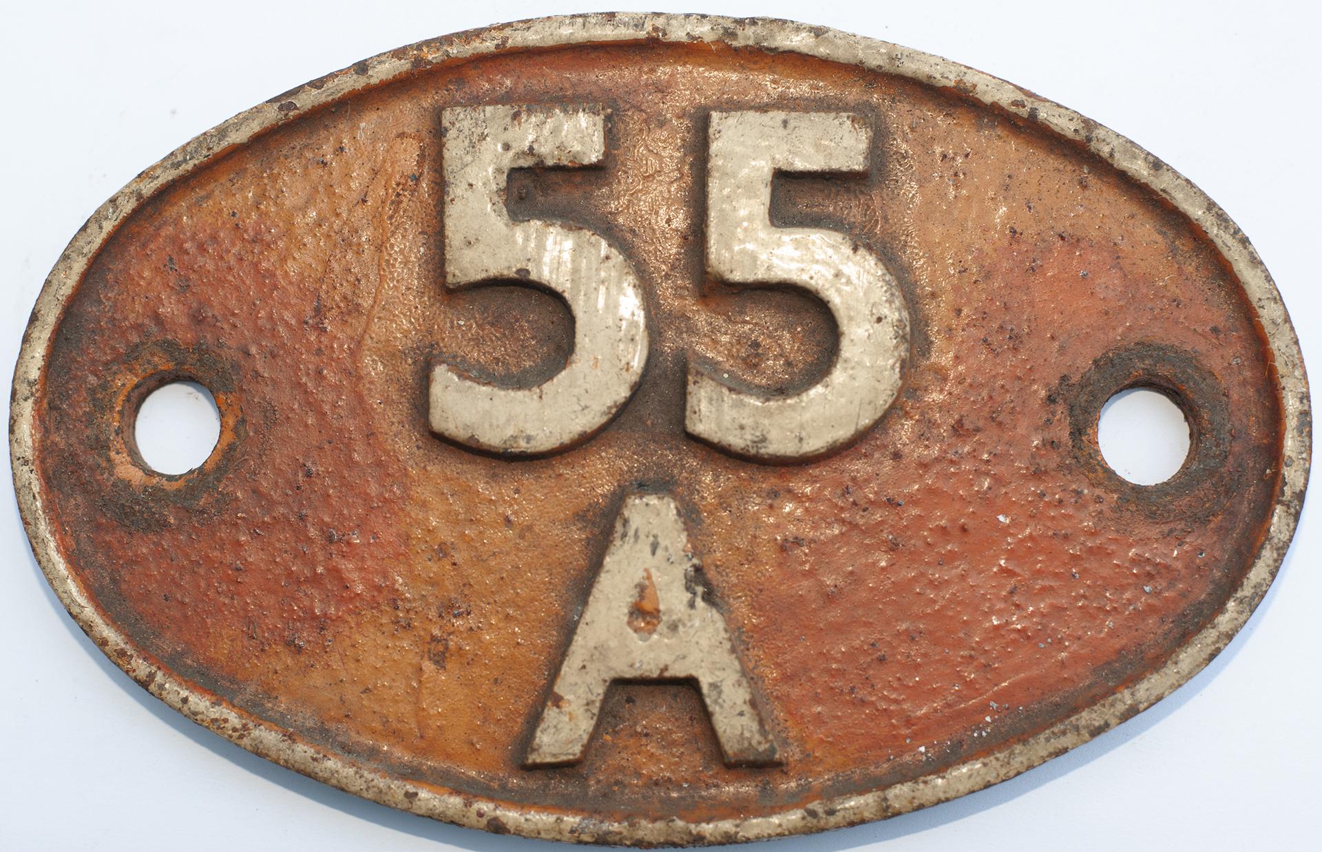 Shedplate 55a Leeds Holbeck 1957-1973 With A Sub