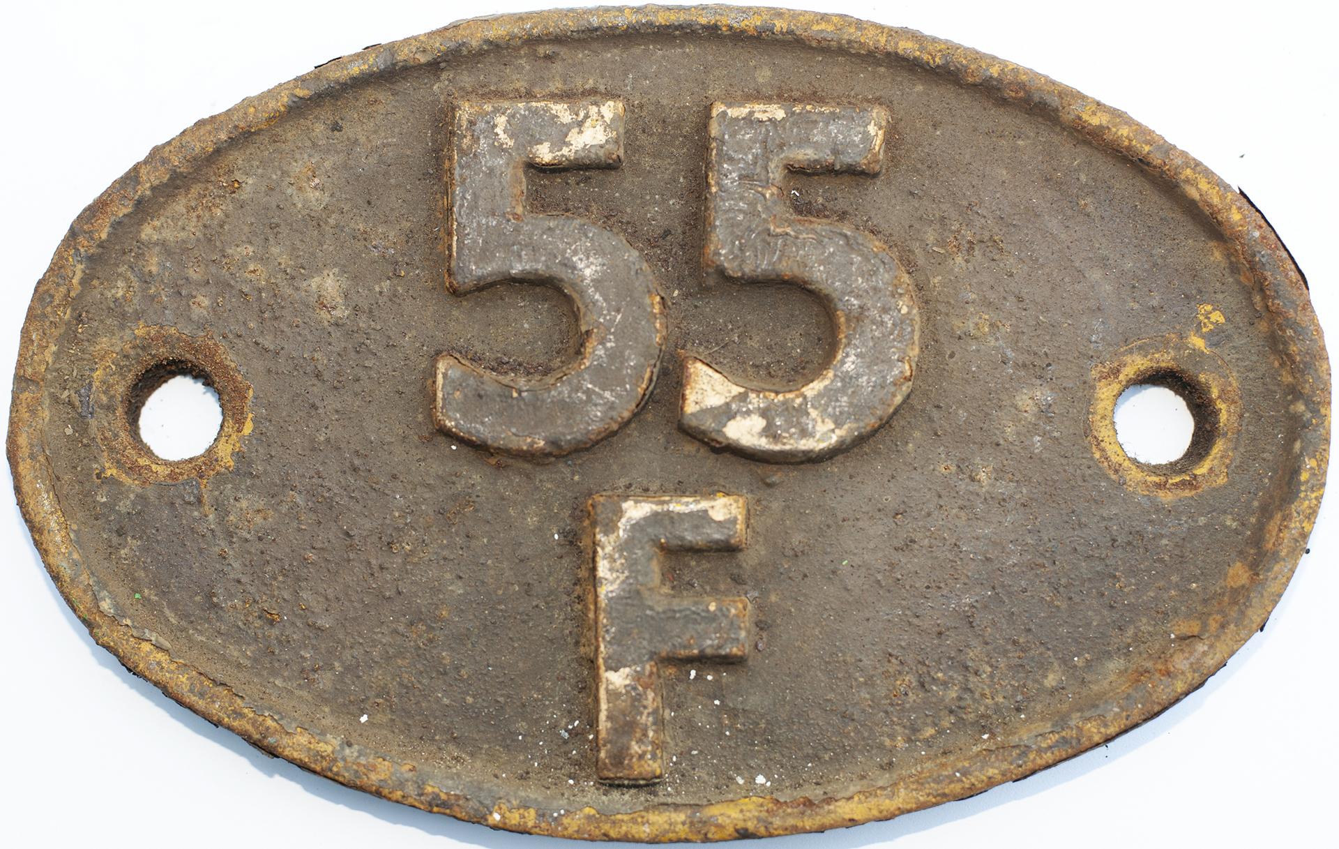 Shedplate 55f Bradford Manningham 1957-1973. In As