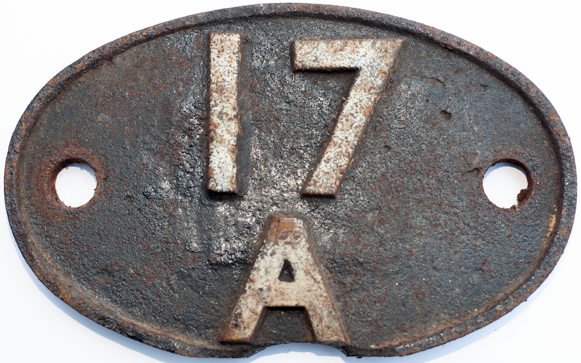 Shedplate 17a Derby 1950-1963. In As Removed