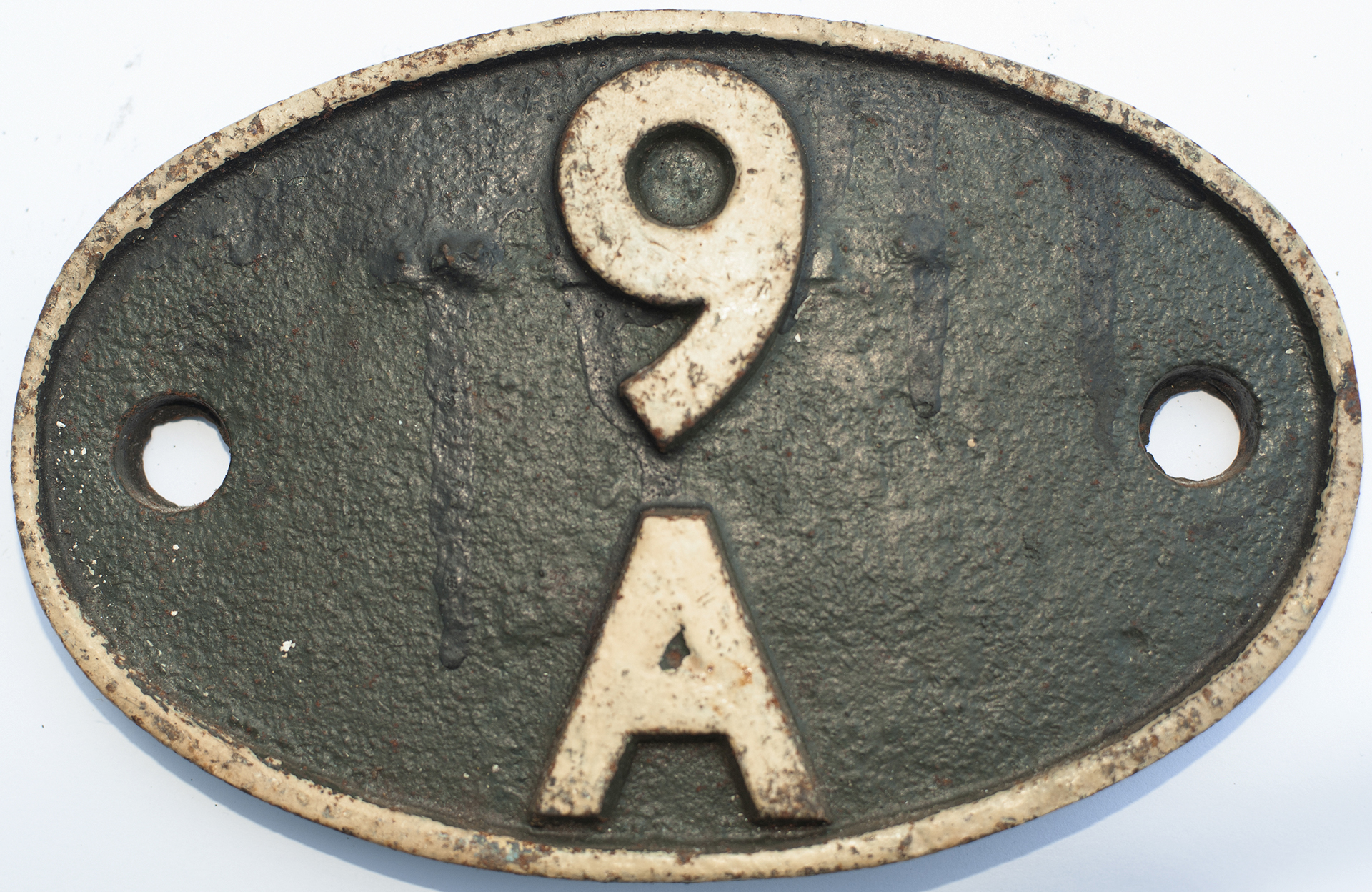 Shedplate 9a Manchester Longsight 1950-1973. In As