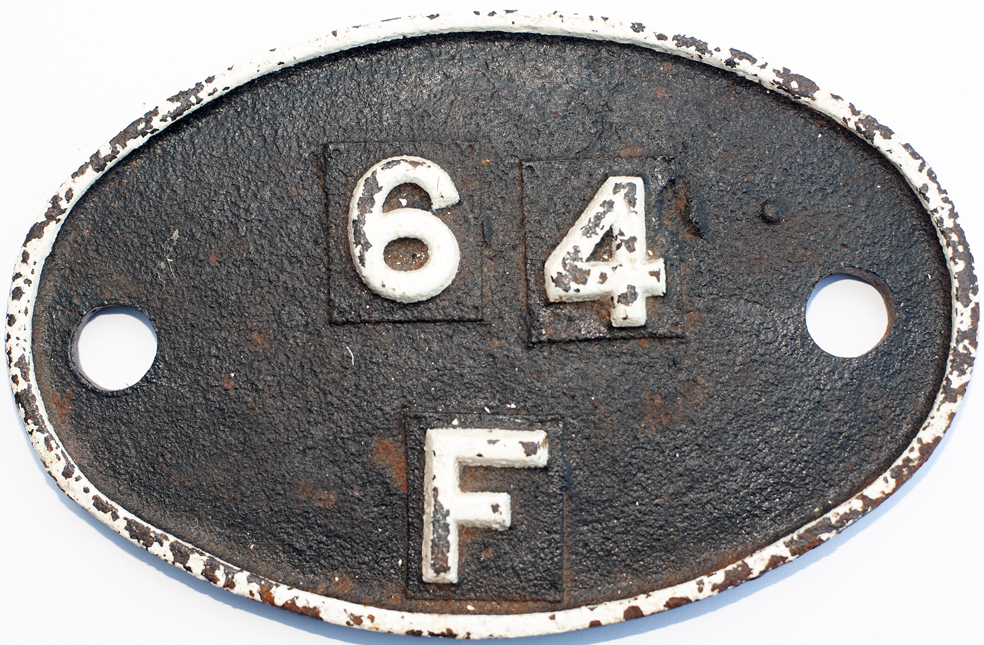 Shedplate 64f Bathgate 1950-1966. In As Removed