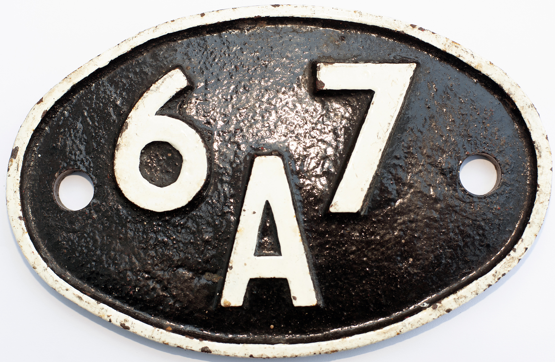 Shedplate 67a Corkerhill 1950-1973. In Restored