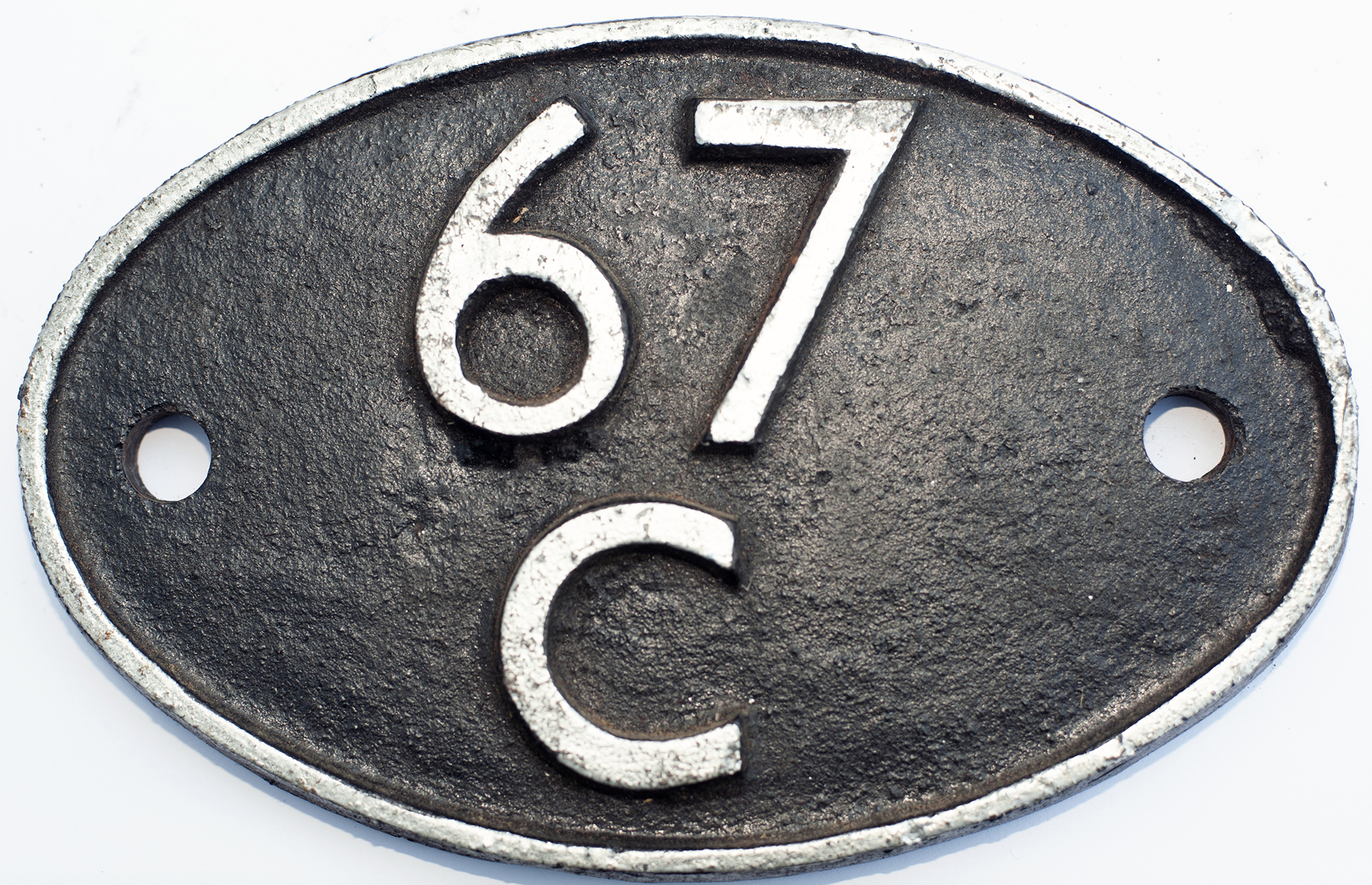 Shedplate 67c Ayr 1950-1973. Face Restored And Has