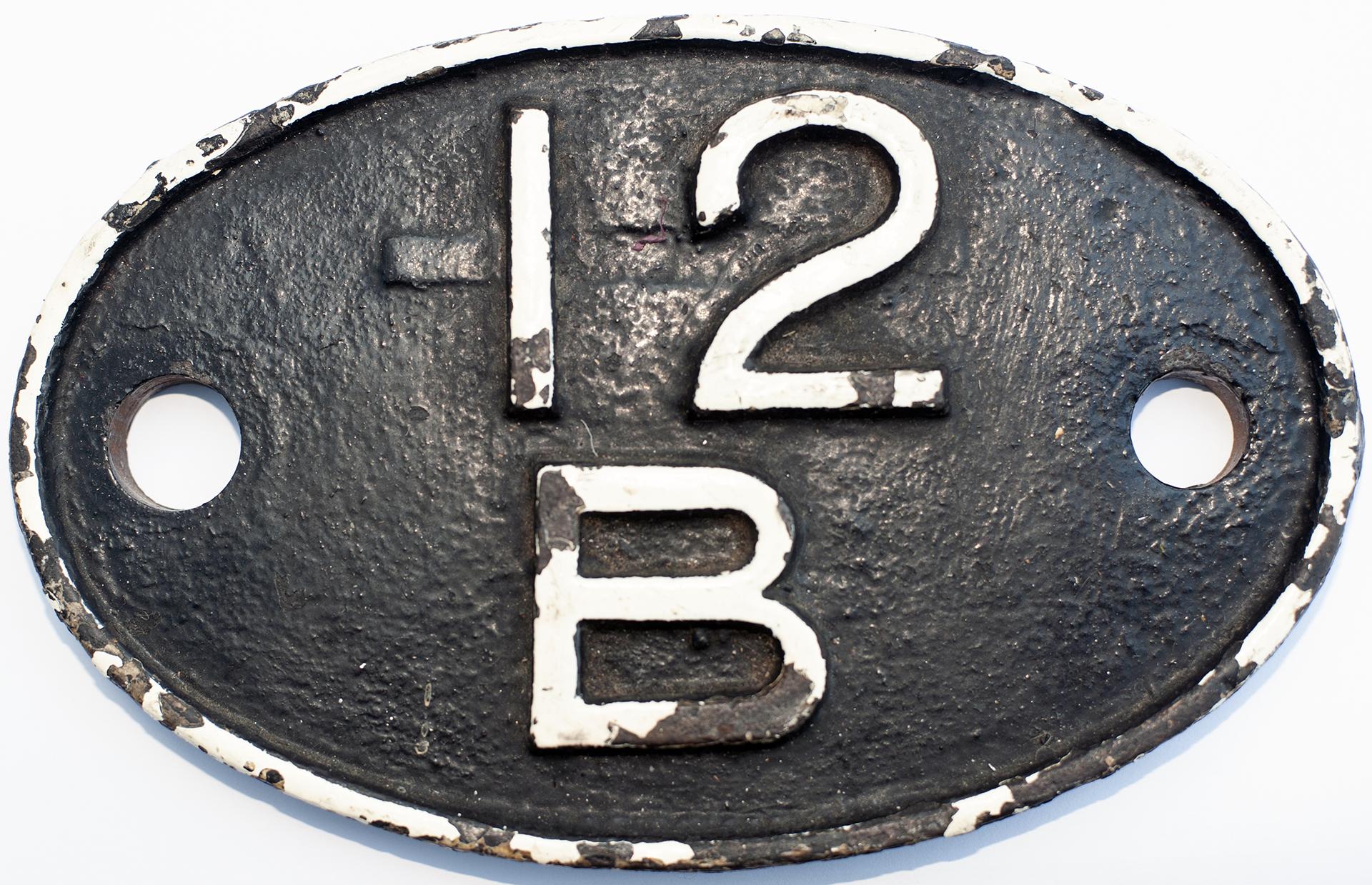 Shedplate 12b Carlisle Upperby 1935-June 1950. An
