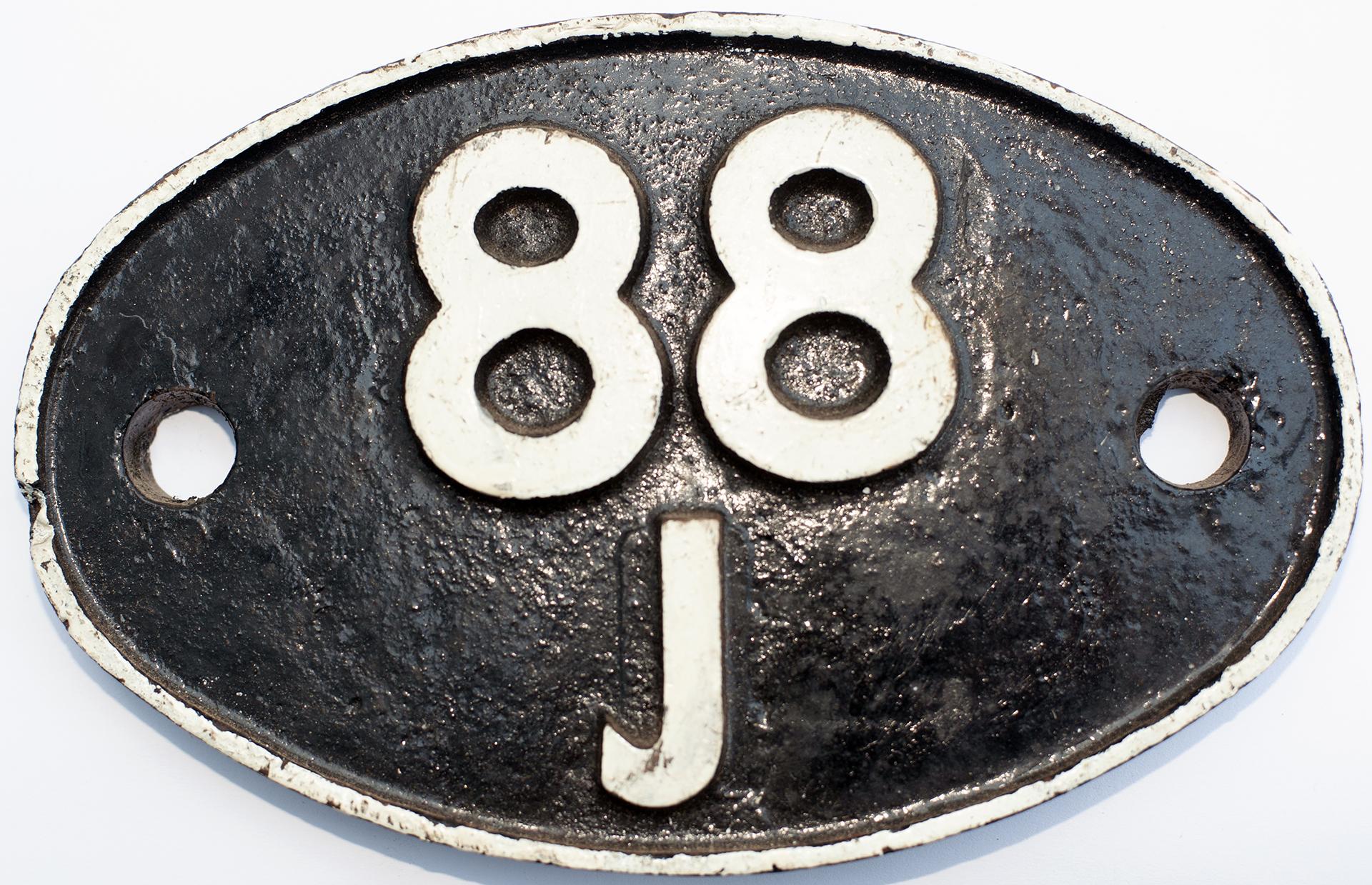 Shedplate 88j Aberdare 1961-1965. In Restored