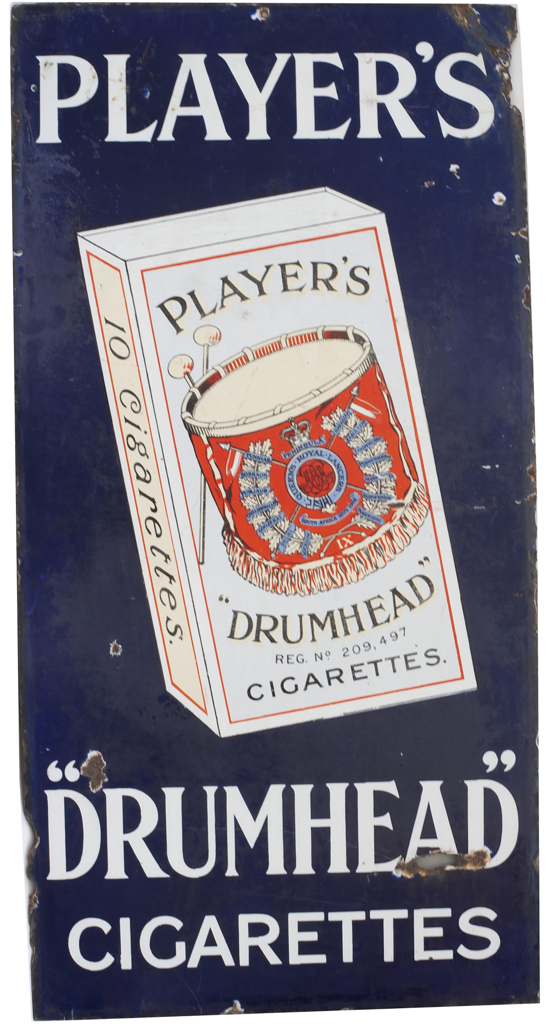 Advertising Enamel Sign PLAYER'S DRUMHEAD